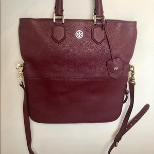 Tory Burch Robinson pebbled foldover messenger
